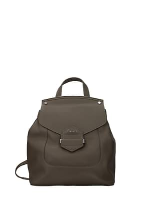 Pollini Backpacks and bumbags Women Polyurethane Gray Taupe