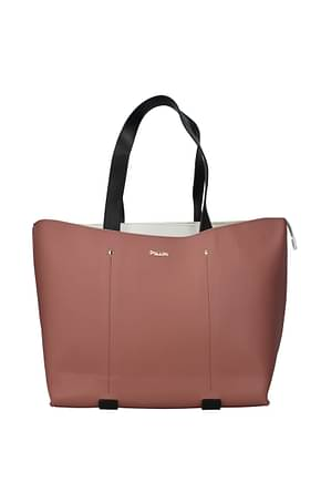 Pollini Shoulder bags Women Polyurethane Pink White