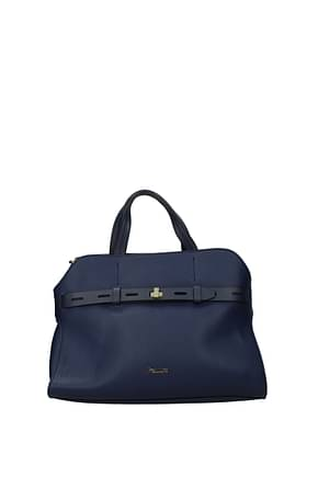 Pollini Handbags Women Polyurethane Blue Royal Blue