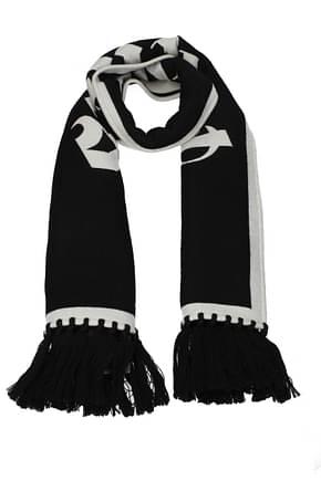 Palm Angels Scarves Men Wool Black White