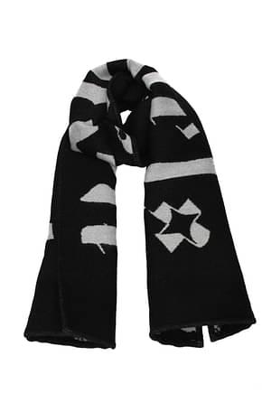 Palm Angels Scarves Men Wool Black Grey