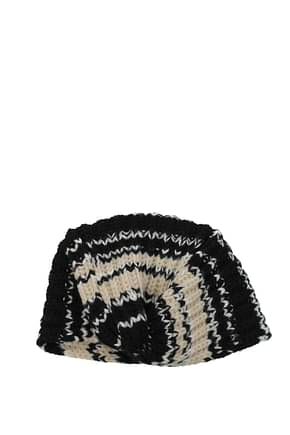 Missoni Hats Women Virgin Wool Black Beige