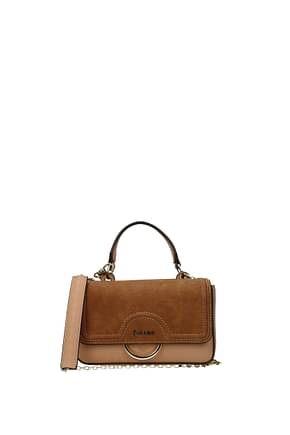 Pollini Handbags Women Polyurethane Pink Leather