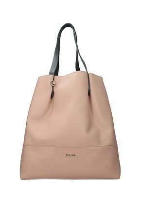 Pollini Shoulder bags Women Polyurethane Pink Nude Pink