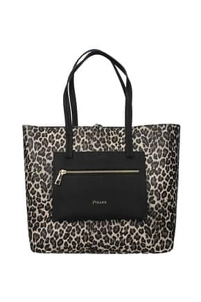 Pollini Shoulder bags Women Polyurethane Beige Black