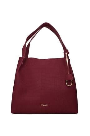 Pollini Shoulder bags Women Polyurethane Red Bordeaux