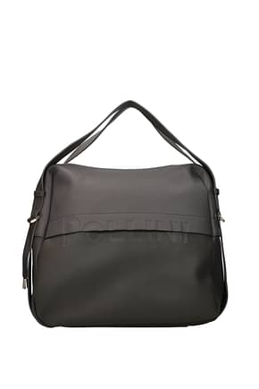 Pollini Handbags Women Polyurethane Gray Pearl Grey