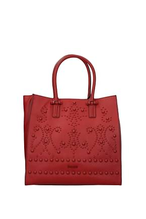 Pollini Handbags Women Leather Red Brick Red