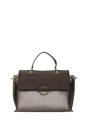 Pollini Crossbody Bag Women Polyurethane Gray Rifle
