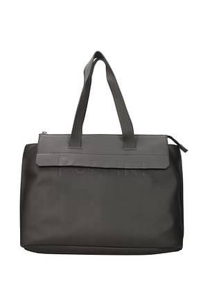 Pollini Shoulder bags Women Polyurethane Gray Pearl Grey