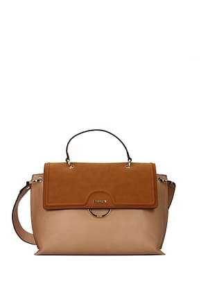Pollini Crossbody Bag Women Polyurethane Pink Leather