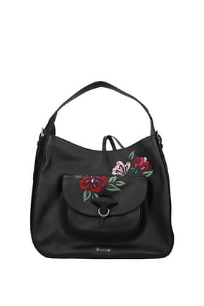Pollini Shoulder bags Women Leather Black