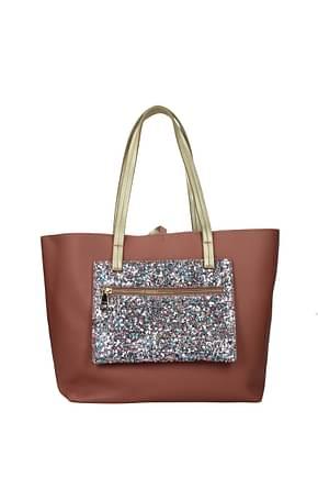 Pollini Shoulder bags Women Polyurethane Pink Sky