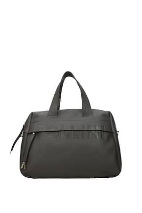 Pollini Handbags Women Polyurethane Gray Pearl Grey
