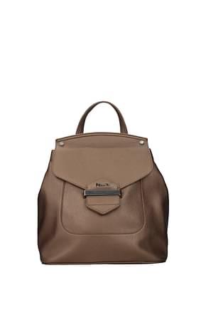 Pollini Backpacks and bumbags Women Polyurethane Brown Bronze