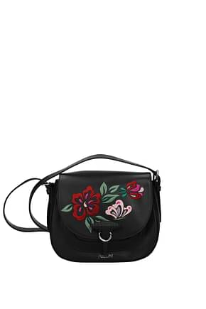 Pollini Crossbody Bag Women Leather Black