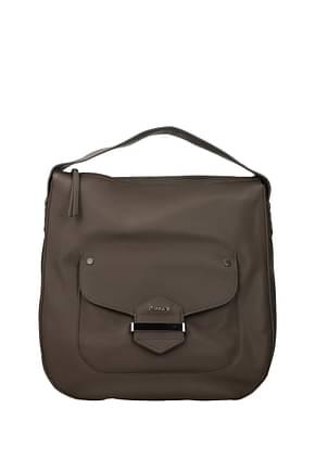 Pollini Handbags Women Polyurethane Gray Taupe