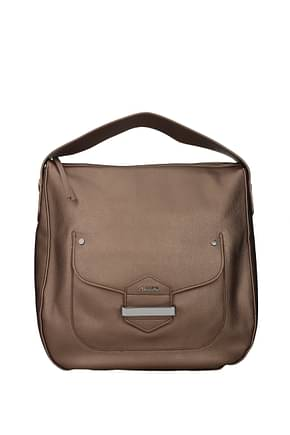 Pollini Handbags Women Polyurethane Brown Bronze