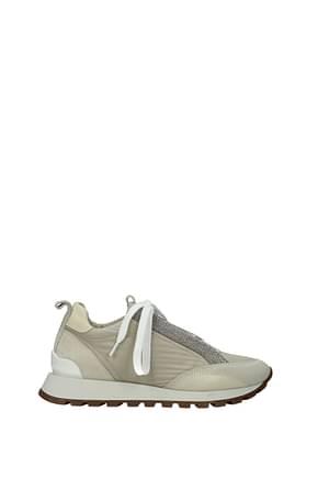 Brunello Cucinelli Sneakers Donna Tessuto Beige