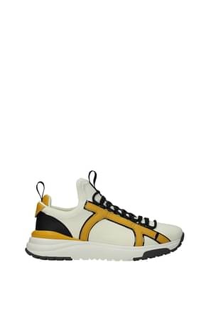 Salvatore Ferragamo Sneakers shiro Homme Tissu Beige Moutarde