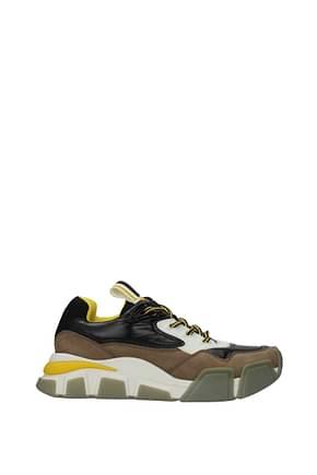 Salvatore Ferragamo Sneakers booster  Homme Tissu Noir Blanc