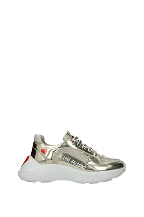 Love Moschino Sneakers running 60 Women Polyurethane Gold