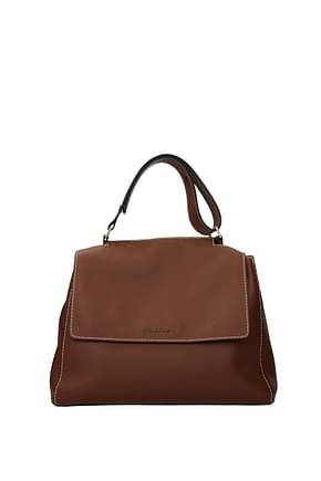 Orciani Handbags Women Leather Brown Cigar