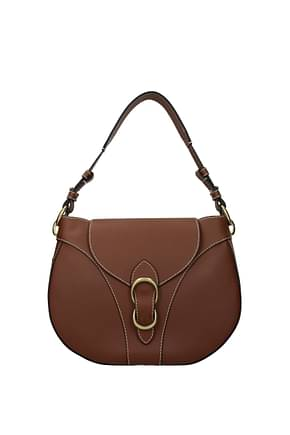 Orciani Shoulder bags Women Leather Brown Cigar