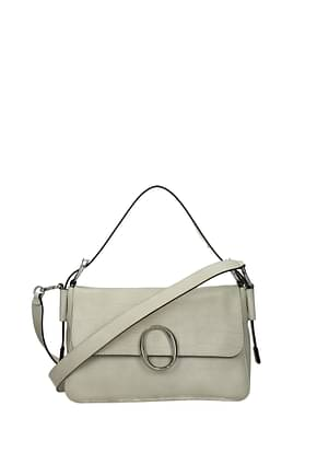 Orciani Handbags Women Leather Beige Camellia
