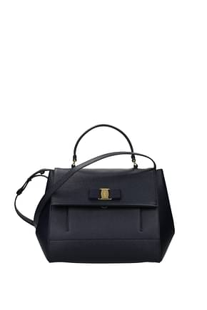 Salvatore Ferragamo Handbags carrie Women Leather Blue Blue Navy