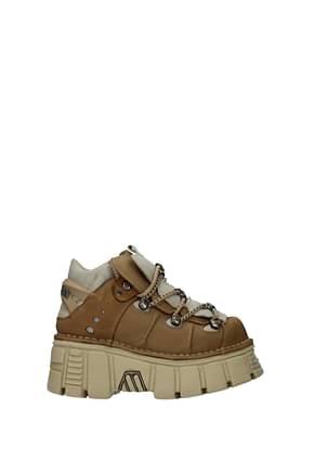 New Rock Sneakers Women Suede Brown