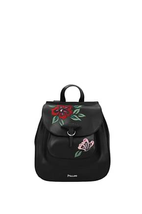 Pollini Backpacks and bumbags Women Leather Black