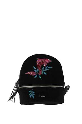 Pollini Backpacks and bumbags Women Velvet Black