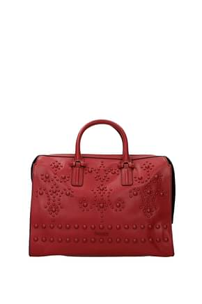 Pollini Work bags Women Leather Red Cherry