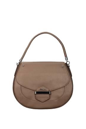 Pollini Handbags Women Polyurethane Brown Bronze