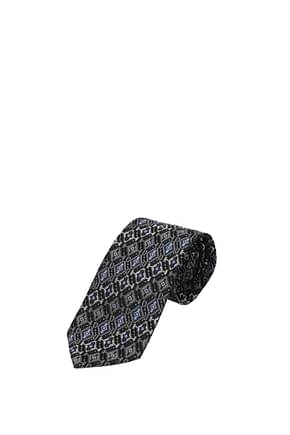 Etro Ties Men Silk Gray