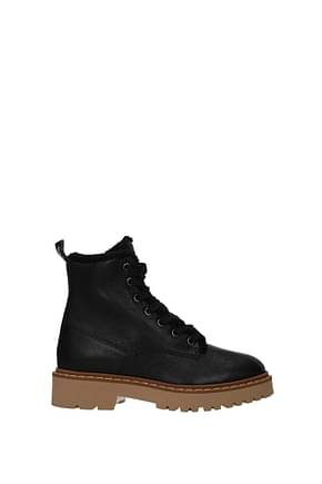 Hogan Ankle boots Women Leather Black