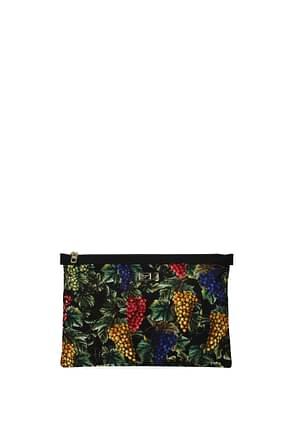 Dolce&Gabbana Clutches Women Fabric  Multicolor