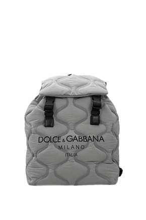Dolce&Gabbana Backpack and bumbags Men Fabric  Silver