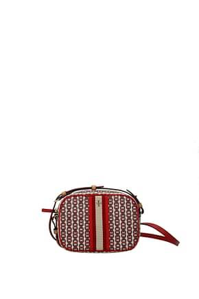 Tory Burch Crossbody Bag gemini link Women Fabric  Red