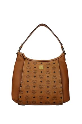 MCM Shoulder bags Women Leather Brown Acorn