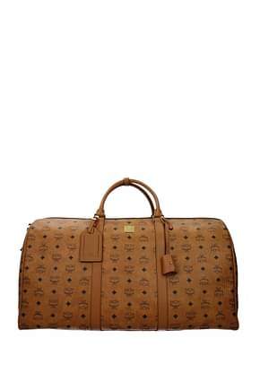 MCM Travel Bags Men Leather Brown Acorn