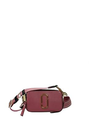 Marc Jacobs Crossbody Bag Women Leather Pink Powder Pink