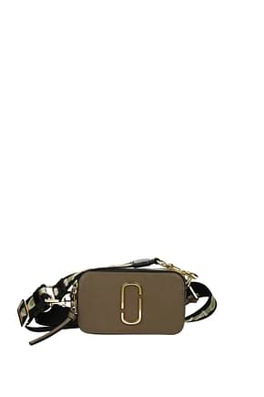 Marc Jacobs Crossbody Bag Women Leather Gray Mud