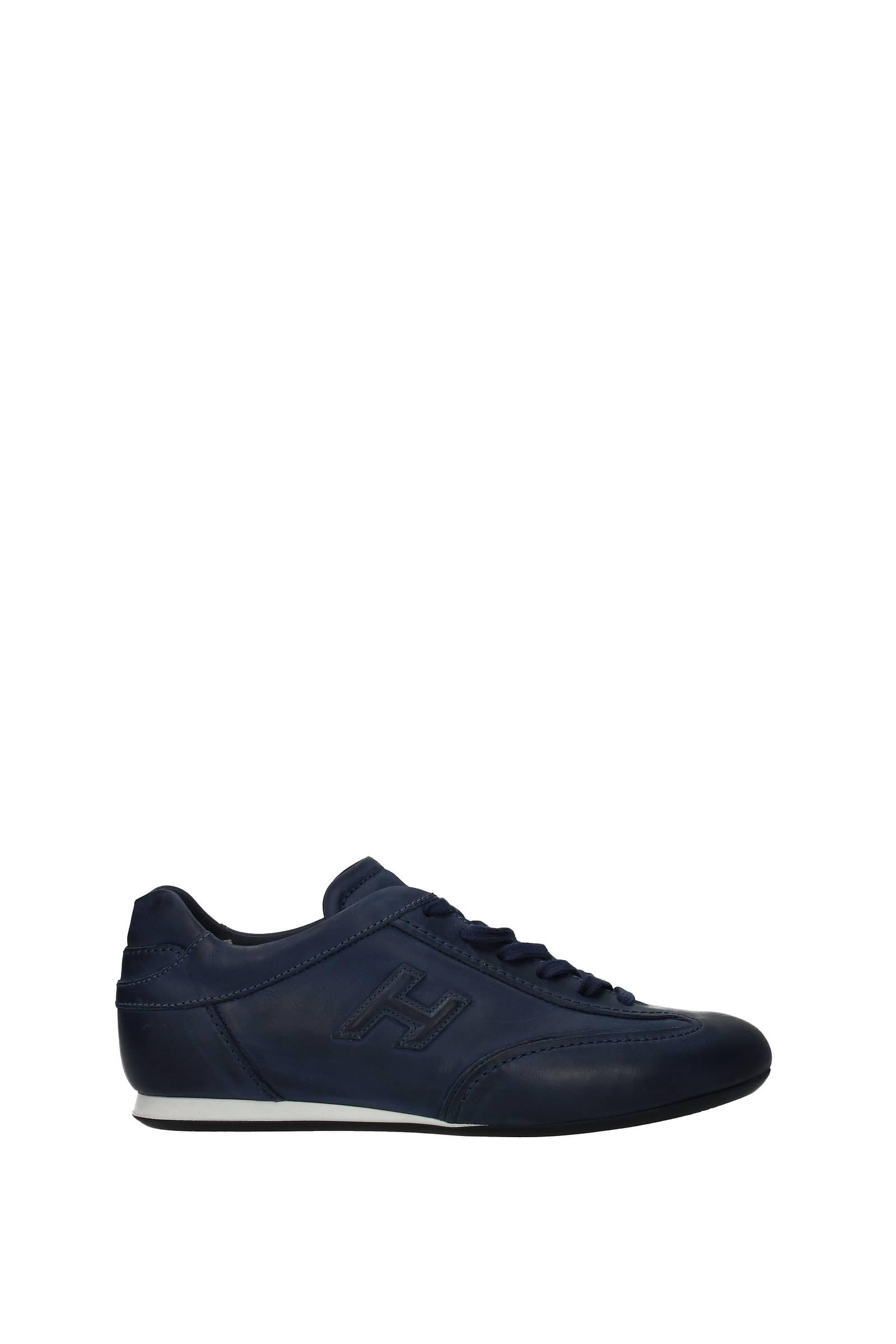 Hogan Sneakers olympia Men Leather Blue Blu Galaxy