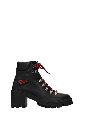 Moncler Ankle boots carol Women Leather Black