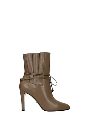 Gucci Ankle boots Women Leather Beige Mud