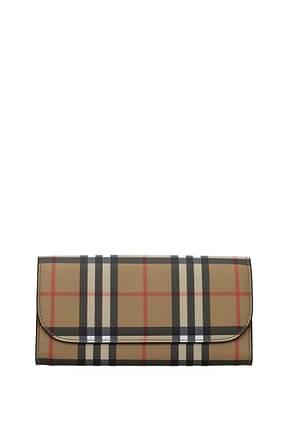 Burberry Wallets Women Fabric  Beige