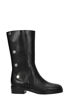 Christian Dior Boots diorodeo Women Leather Black