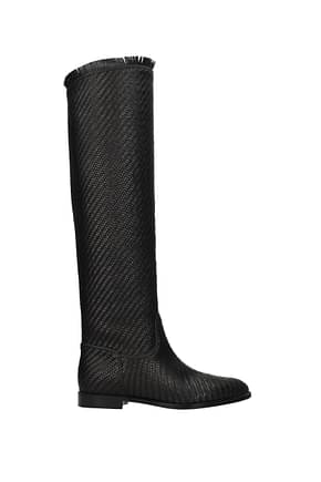 Christian Dior Stiefel global Damen Leder Schwarz